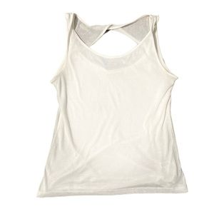 Athleta twist back white tank top small
